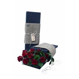 Κουτί Με Κατακόκκινα Τριαντάφυλλα  - 1