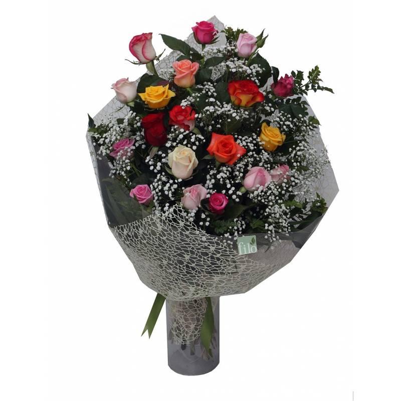 Αρκουδάκι Κορίτσι Με Σύνθεση Λουλουδιών