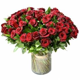 Bouquet With 50 Red Roses  - 1