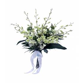 Bunch Of Flowers With White...