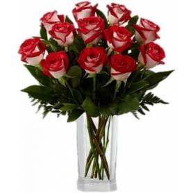 Bouquet With Bicolor Roses  - 1