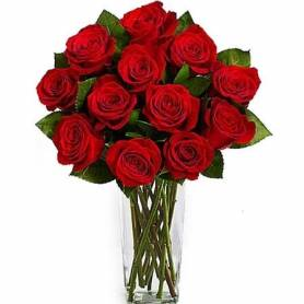 Bouquet With 12 Red Roses  - 1