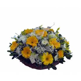 Happy Composition With Gerberas & Chrysanthemums  - 1