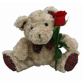 Stuffed Baby Bear With Rose