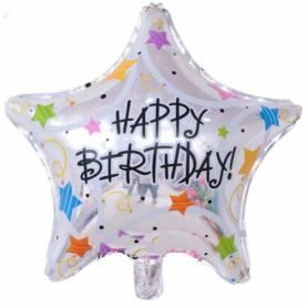 Μπαλόνι Foil Happy Birthday Αστέρι  - 1