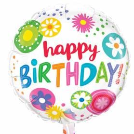 Μπαλόνι Στρογγυλό  Happy Birthday  - 1