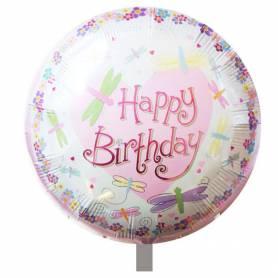 Μπαλόνι Happy Birthday Πεταλούδες  - 1