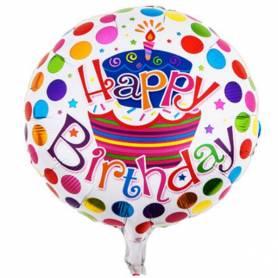 Μπαλόνι Happy Birthday Τούρτα  - 1