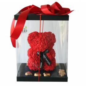 Forever Roses Teddy Bear in...