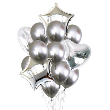 Silver Balloon Bouquet