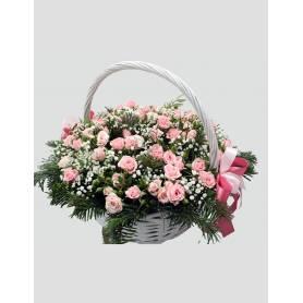 Melpomeni Basket With Little Roses  - 1