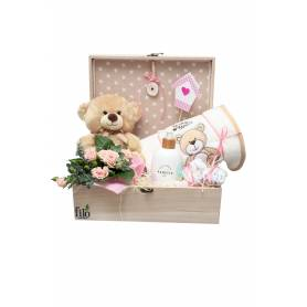 Box With Gifts For Newborn