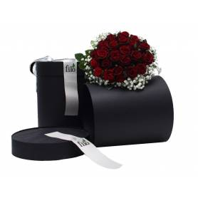 Surprise Hat Βox With Bouquet Of Roses  - 1