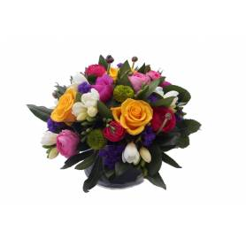 Pandesia Colorful Composition With Seasonal Flowers  - 1