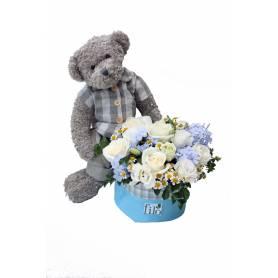 Baby Boy Bear With Flower...