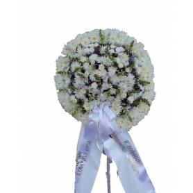 Funeral Hoop  With Dahlias